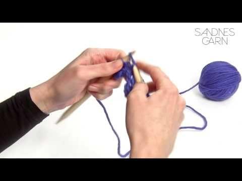 Sandnes Garn - Hvordan strikke rillestrikk - YouTube