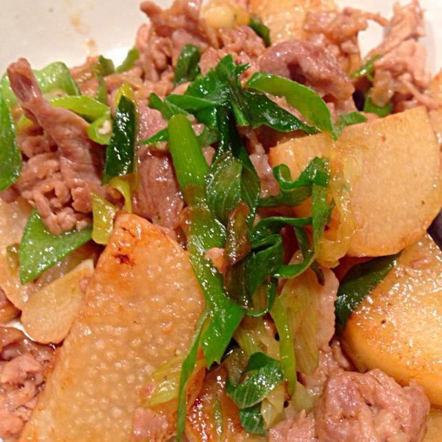 ご飯がすすみます!! - 4件のもぐもぐ - 豚肉と長芋 ガーリックバターソテー by zhizi22
