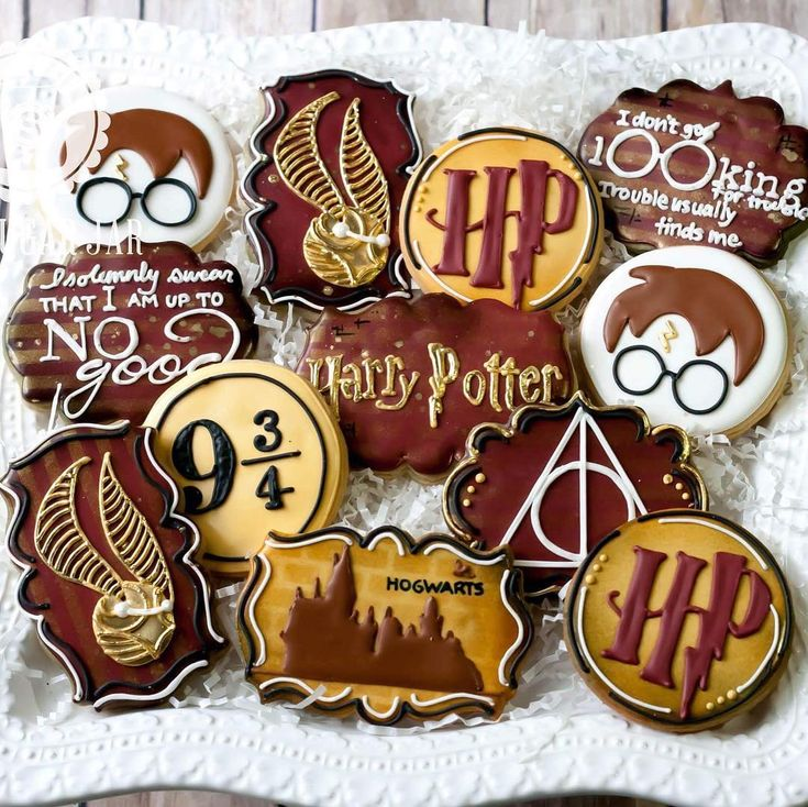 Harry Potter themed cookies - I want these.