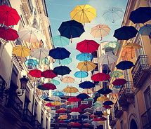 Spain: Be Nice, Dreams, Cities Photography, Colors Photography, Street Art, Inspiration Pictures, Sun Umbrellas, Rain, Cool Rooms