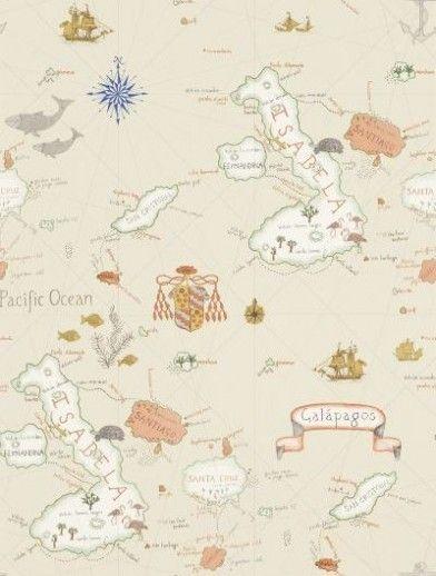 Neutral Navigator Map Wallpaper- Arthouse 622003 | Wallpaper, Room ...