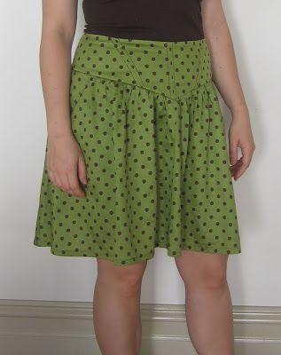 Bright green with polka dots
