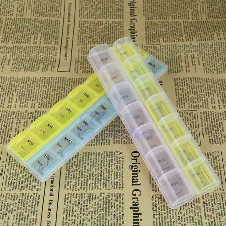 7日毎週タブレットピル医学ボックスホルダー収納オーガナイザーコンテナケース