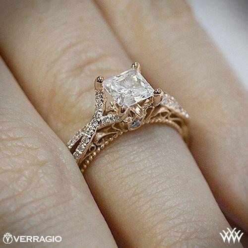 Verragio Pave Twist Diamond Engagement Ring | 1953