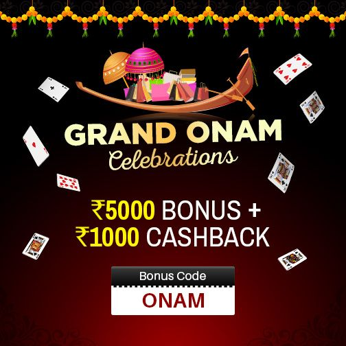 Rummy Millionaire wishes you a very #HappyOnam Join the Grand Onam Celebrations…