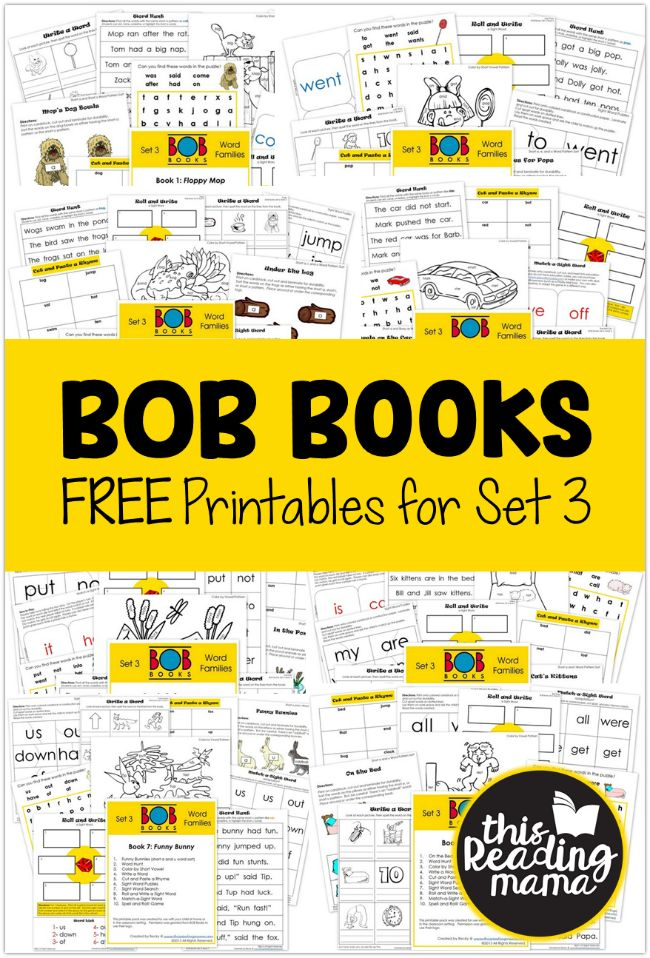 Today I'm rounding up all of the free set 3 BOB Books Printables I have shared lately on the blog. Be sure to check out all the other BOB Books resources, too! *This post contains affiliate links. FREE Set 3 BOB Books Printables These sets contain activities for phonics as well as sight words. …