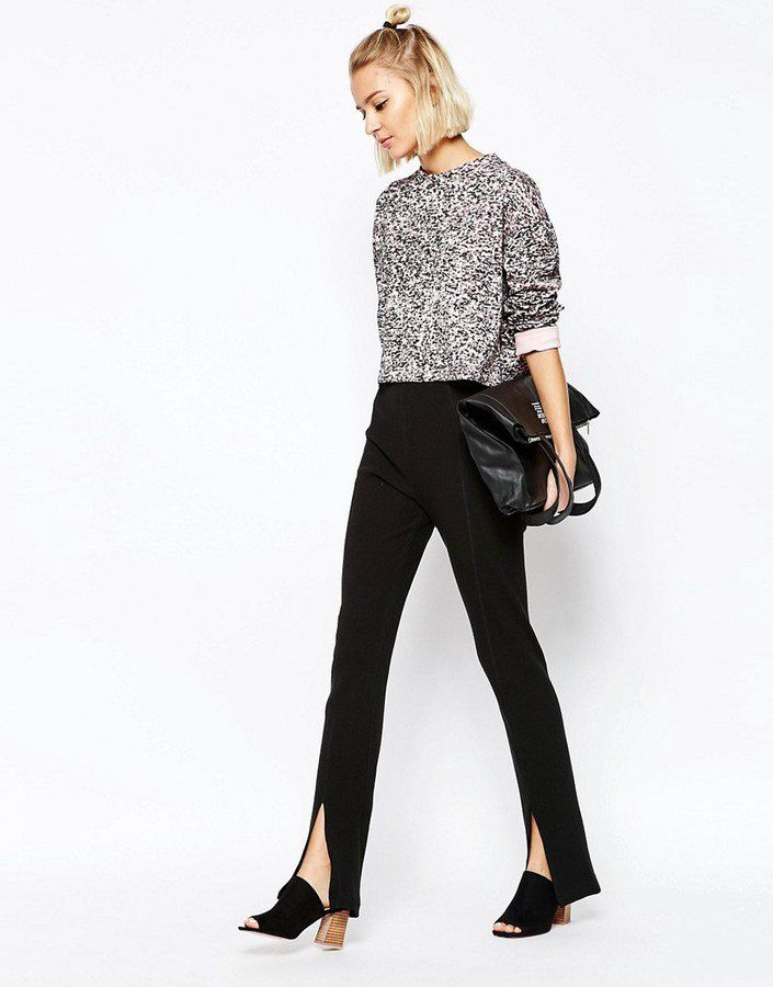 Pin for Later: The 1 Stylish Update You Must Make to Your Work Pants This Summer  Cheap Monday Slit Front Legging ($77)
