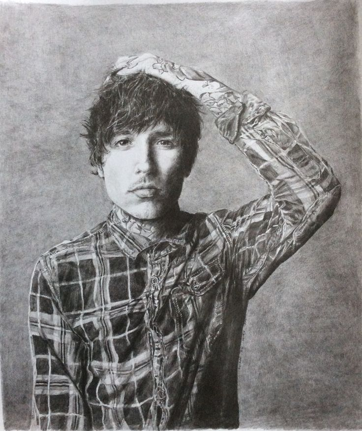 Oliver Sykes, pencil