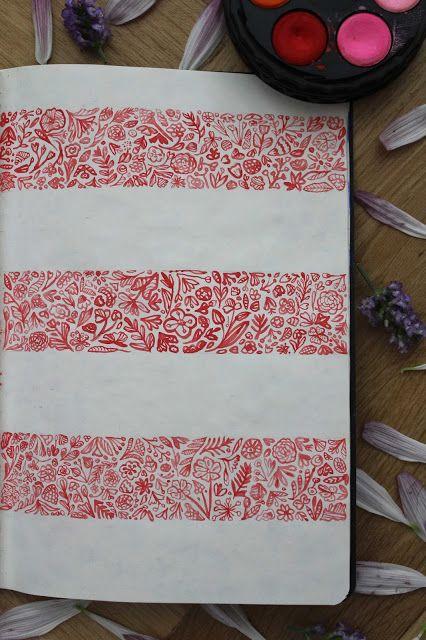 #flowers #pattern #watercolor #sketchbook #colors
