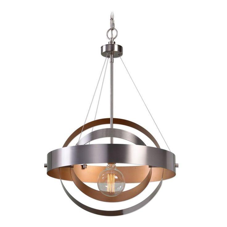 Uttermost Lighting Uttermost Anello 1 Light Brushed Nickel Pendant 22095