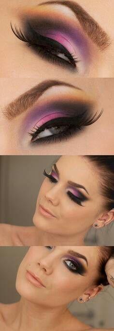 El violeta sigue siendo tendencia #Belleza #Maquillaje #Colores