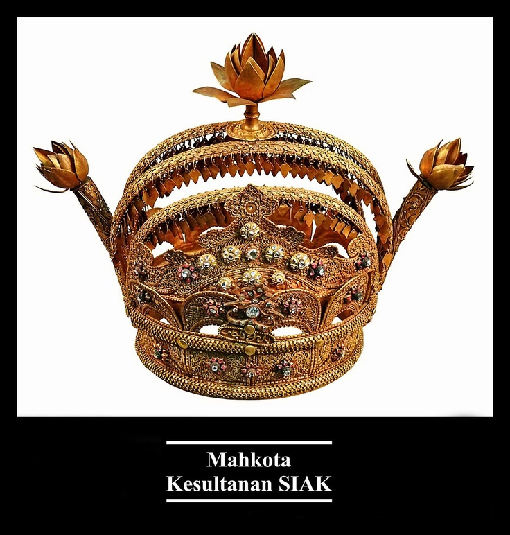 The Royal Crown of Siak Sultanate.
