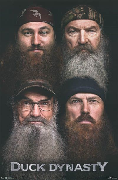 A great poster of the bearded Robertson Boys from TV's hit reality show Duck Dynasty! Fully licensed. Ships fast. 22x34 inches. Check out the rest of our fun selection of Duck Dynasty posters! Need Po