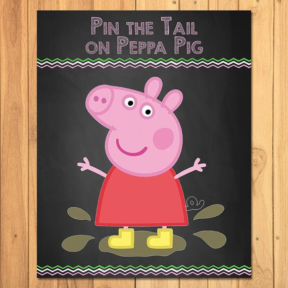 Hey, I found this really awesome Etsy listing at https://www.etsy.com/listing/256127318/pin-the-tail-on-peppa-pig-chalkboard