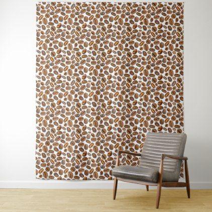 Cute Coffee Bean Pattern Wall Tapestry - pattern sample design template diy cyo customize