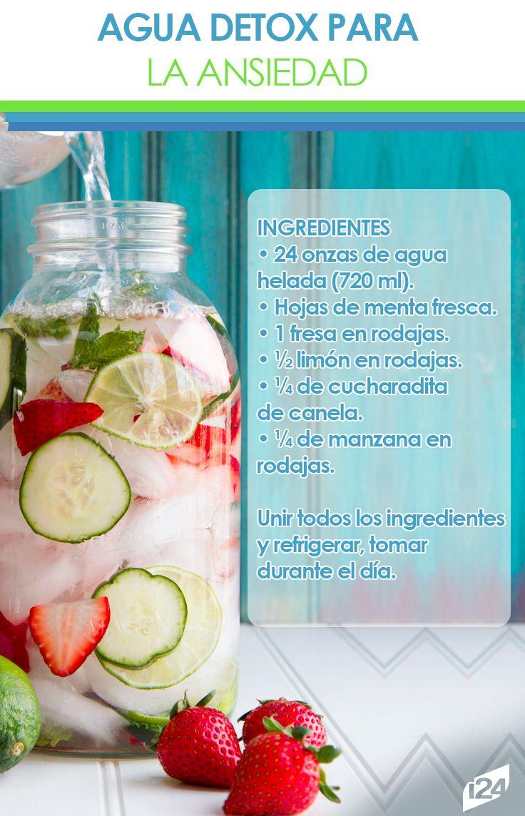 Deliciosa y refrescante, mantenla refrigerada y tómala durante el día #Detox #Agua #Bebida #Receta
