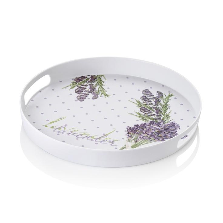 Lavender Yuvarlak Tepsi / Round Tray #bernardo #kitchen #mutfak #servis