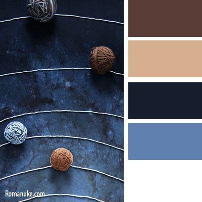 Цветосочетание. Синий и коричневый.   biser.info - всё о бисере и бисерном творчестве