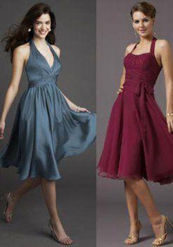 gracieuses A-ligne bretelles genou longueur des robes de soirée courtes charmeuse