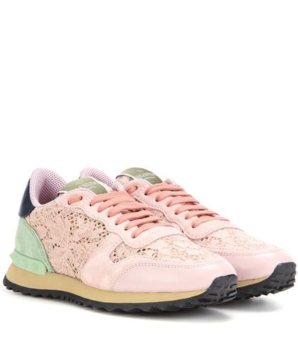 Valentino Valentino Garavani Lace Sneakers For Spring-Summer 2017