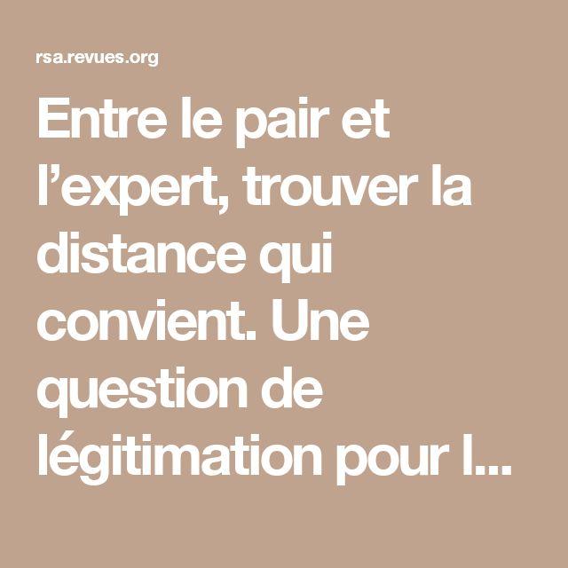Entre le pair et l'expert, trouver la distance qui convient. Une question de légitimation pour le conseiller pédagogique?