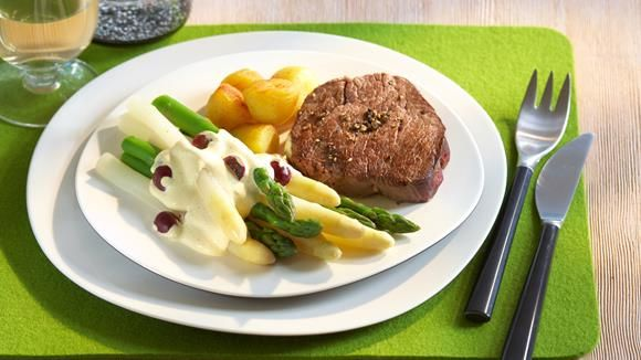 Vanille-Hollandaise+mit+Pfeffersteak+Rezept+»+Knorr