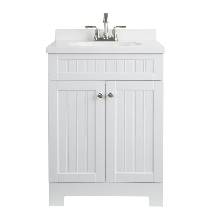 Style Selections Ellenbee White Integral Single Sink Bathroom ...