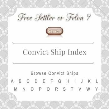 Search or Browse Convict Ships