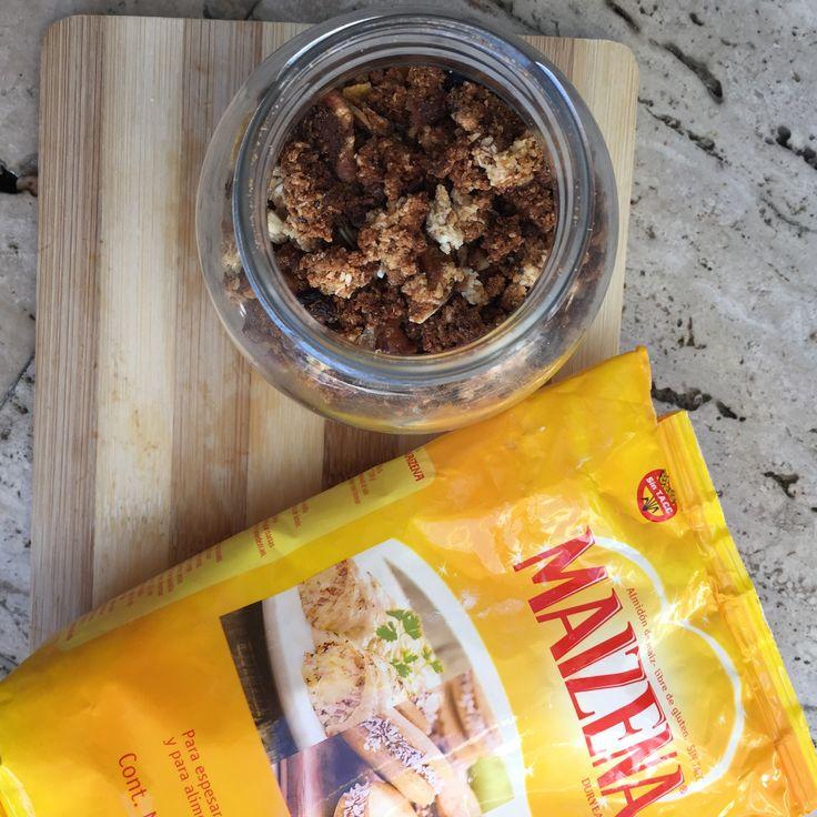 GRANOLA SIN TACC -  Hoy trajimos una receta apta para celíacos. Granola #sinTACC. Para esta receta #celiacofriendly vamos a  reemplazar las harinas con gluten por #Maizena, probala!