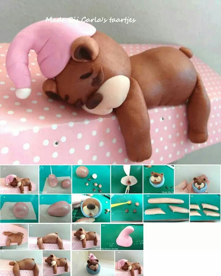 Sleeping Bear Cake Topper Pictorial