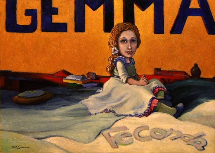 GEMMA FECONDA - 50 x 70 cm - FOR SALE ORIGINAL and PRINTS >>>> http://www.saatchiart.com/art/Painting-FECUND-GEMMA/786738/2462351/view <<<<< -carlo salomoni - ITALY - www.carlosalomoni.com