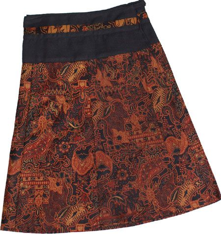 fabulous batik print with a flattering black waist band.