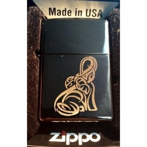 Zippo Custom Lighter - Tribal Celtic Elephant Animal Tattoo Logo Black ICE RARE! $36.95