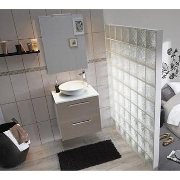 meuble de salle de bains dado brun taupe n 3 leroy. Black Bedroom Furniture Sets. Home Design Ideas