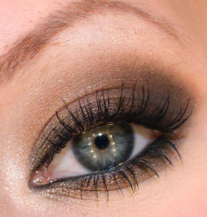 ** Eye makeup tutorial.