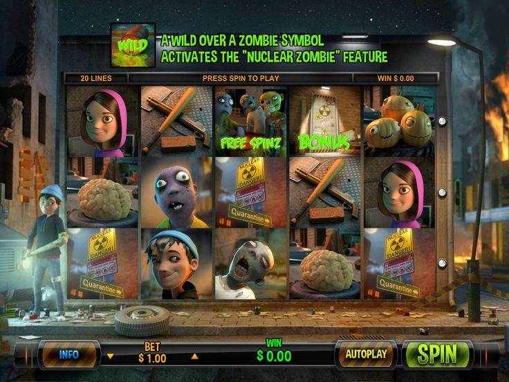 Zombie Rush - http://freeslots77.com/zombie-rush/ - How about killing dreadful zombies to satisfy your hunting spree? Play a very entertaining slot that also gives great chances to win exciting prizes through its amazing features. Leander Games has brought free Zombie Rush, which is a five-reel and twenty-payline online slot game. The popular...