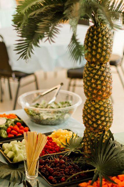 how to make a pineapple palm tree