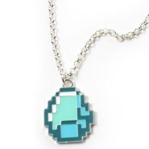 minecraft diamond necklace for girls