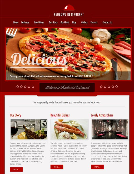 9 best 9 of the Best Joomla Restaurant Templates images on Pinterest ...