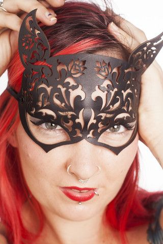 Freyja - Cat Woman Mask. http://www.galleryserpentine.com/collections/dark-bondage-mad-max-mardi-grasfestival