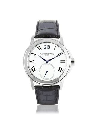 -65,800% OFF Raymond Weil Men's 9578-STC-00300 Tradition Black/White Leather Watch