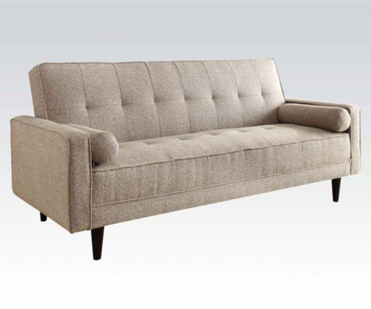 Acme Furniture - Edana Adjustable Sofa with 2 Pillows in Sand Linen - 57071