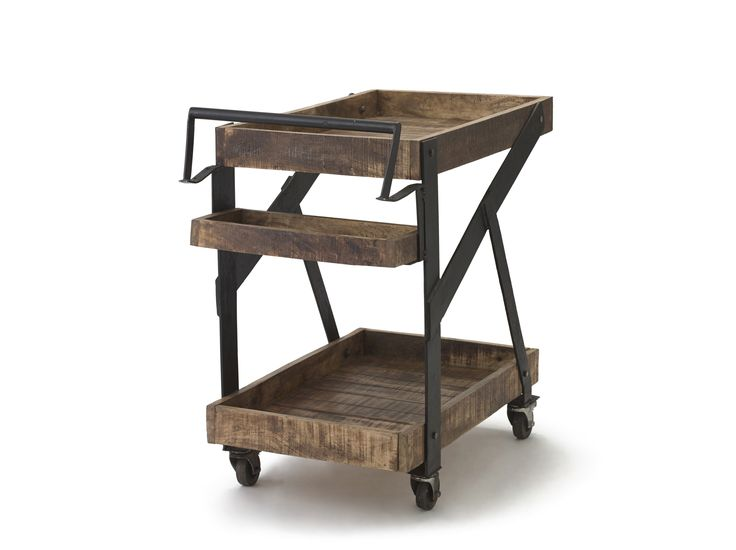 Bring the bar to you! Whether you need a cocktail station on wheels or a serving station for appetisers, Dolly can do it! Imagine this clever serving cart next to your antique dining room set or, even better, moving from room to room as you serve your guests refreshments. Featuring wood with an air of reclaimed or salvaged material, Dolly is designed to be both functional and rustic to help you achieve a lovely country lifestyle in your home. #TheBarrelShack