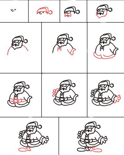 Zo teken je de Kerstman