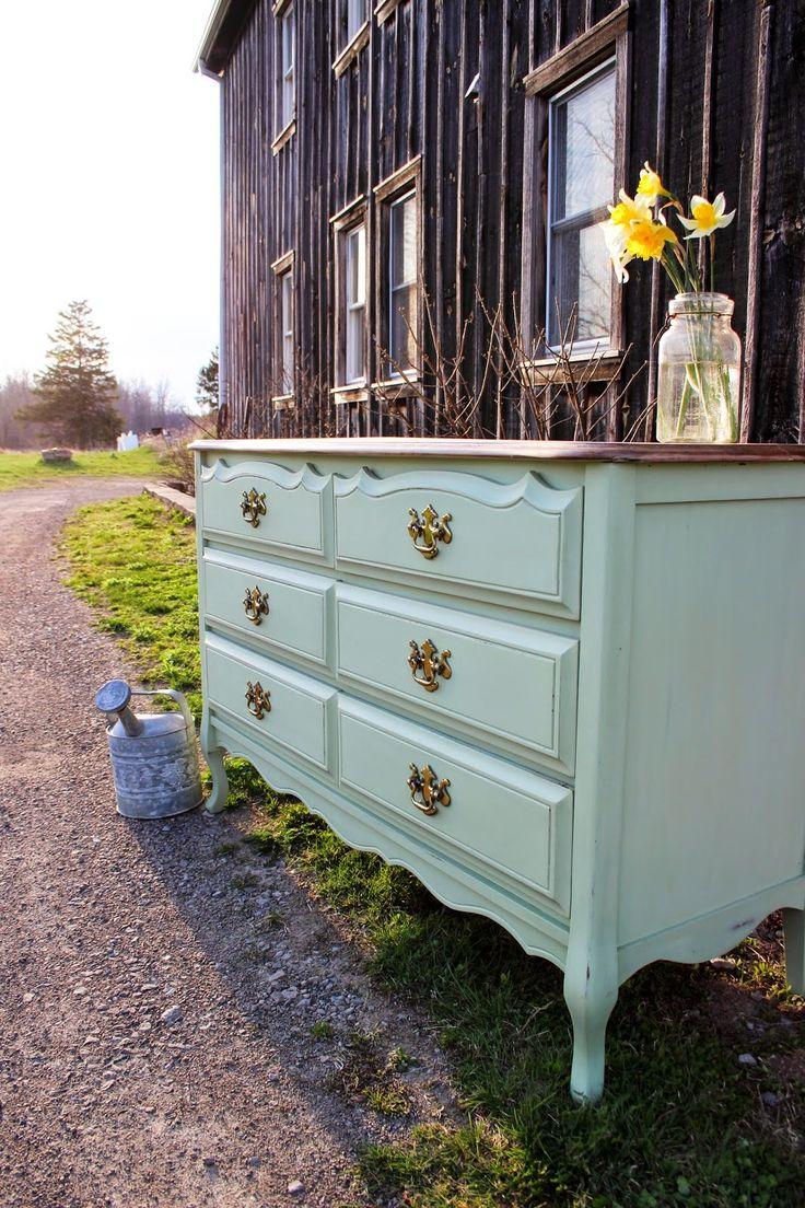 Laurel's Attic : Mint Green Dresser