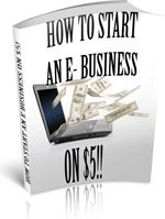 How To start An E-Business On $5! - In this ebook you will discover the secrets of turning a simple passion for article writing into an online business. You will learn where to place your articles and how you can turn them into a successful product funnel, to make money on the web!