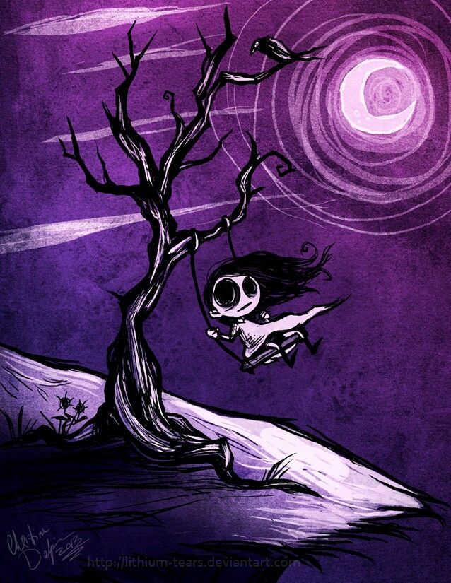 emo dark drawings creepy simple gothic cartoon