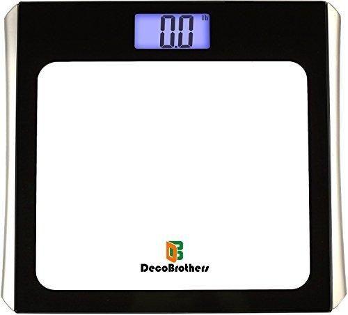 DecoBros Digital Bathroom Body Weight Scale w/ Large Display Step-On Startup