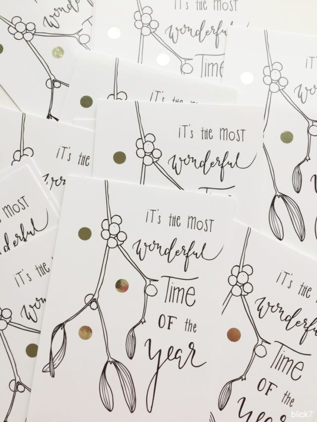 Weihnachtskarte Handlettering it's the most wonderful time of the year | blick7