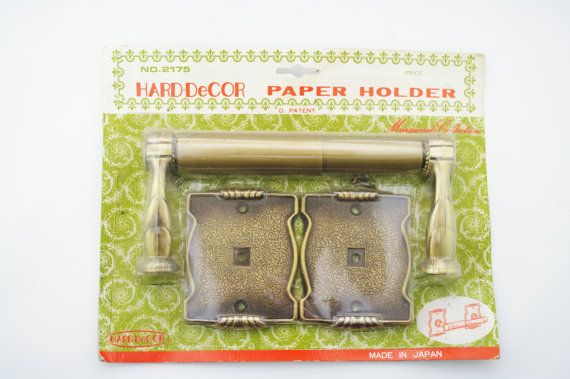Hard-Decor Paper Holder by Vintageknobs on Etsy